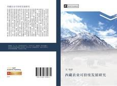 西藏农业可持续发展研究的封面