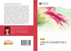 中國民營企業組織學習能力研究的封面
