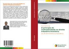 Capa do livro de O princípio da irretroatividade no direito tributário brasileiro