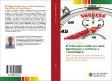 Capa do livro de O Patenteamento em uma Instituição Científica e Tecnológica