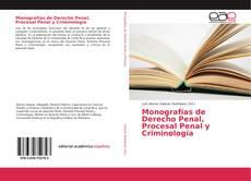 Buchcover von Monografías de Derecho Penal, Procesal Penal y Criminología