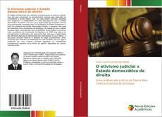 Capa do livro de O ativismo judicial x Estado democrático de direito