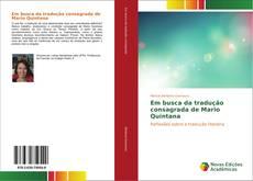 Capa do livro de Em busca da tradução consagrada de Mario Quintana