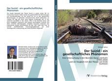 Buchcover von Der Suizid - ein gesellschaftliches Phänomen