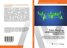 Bookcover of Green Meetings- Länderübergreifende Kooperation