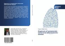 Buchcover von Diagnosis of symptomatic intracranial atherosclerotic disease