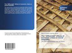 """Capa do livro de The """"differential"""" effects of economic crises on social inequality"""