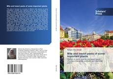 Bookcover of Mite and insect pests of some important plants