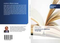 Portada del libro de Locutions in Albanian language