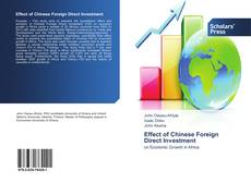 Capa do livro de Effect of Chinese Foreign Direct Investment
