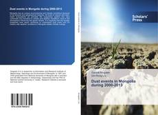Couverture de Dust events in Mongolia during 2000-2013