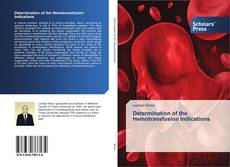 Couverture de Determination of the Hemotransfusion Indications