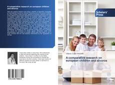 Обложка A comparative research on european children and divorce