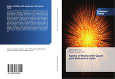 Bookcover of Optics of Media with Quasi-zero Refractive Index