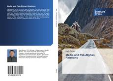Buchcover von Media and Pak-Afghan Relations