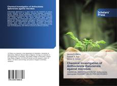 Portada del libro de Chemical Investigation of Anthocleista djalonensis against microbes