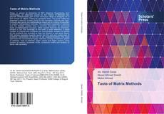 Capa do livro de Taste of Matrix Methods