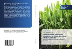 Capa do livro de Microrhizome Production Protocol For Indian Curcuma: Medicinal Herbs