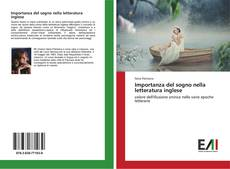 Bookcover of Importanza del sogno nella letteratura inglese