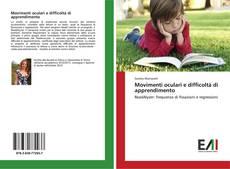 Copertina di Movimenti oculari e difficoltà di apprendimento