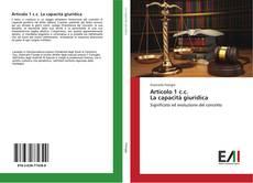 Borítókép a  Articolo 1 c.c. La capacità giuridica - hoz