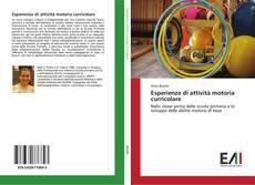 Portada del libro de Esperienze di attività motoria curricolare