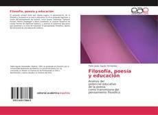 Capa do livro de Filosofía, poesía y educación