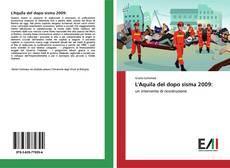 L'Aquila del dopo sisma 2009: kitap kapağı