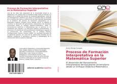 Capa do livro de Proceso de Formación Interpretativa en la Matemática Superior