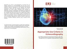 Bookcover of Appropriate Use Criteria in Echocardiography