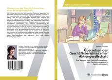 Buchcover von Übersetzen des Geschäftsberichtes einer Aktiengesellschaft