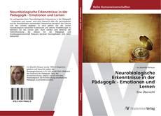 Capa do livro de Neurobiologische Erkenntnisse in der Pädagogik - Emotionen und Lernen