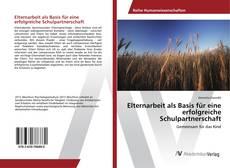 Bookcover of Elternarbeit als Basis für eine erfolgreiche Schulpartnerschaft
