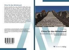 Capa do livro de China für den Mittelstand
