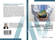 Couverture de Development of a social sustainability index for mega sport events