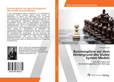 Portada del libro de Businesspläne vor dem Hintergrund des Viable System Models