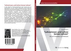 """Bookcover of """"Lehrerinnen und Lehrer lernen Lehren"""""""