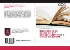 Portada del libro de Biomecánica del pasaje del 1er obstáculo posterior a la fosa en 2000mt