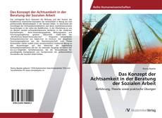 Buchcover von Das Konzept der Achtsamkeit in der Beratung der Sozialen Arbeit