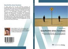 Bookcover of Geschichte eines Gesetzes