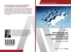 Buchcover von Vermittlung der Audiationsfähigkeit im elementaren Klavierunterricht
