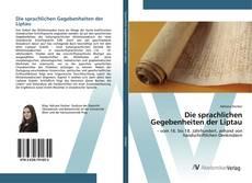 Buchcover von Die sprachlichen Gegebenheiten der Liptau