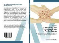Bookcover of Zur Wirkung des pädagogischen Psychodramas