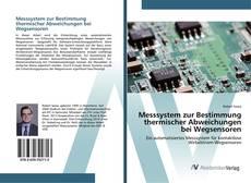 Bookcover of Messsystem zur Bestimmung thermischer Abweichungen bei Wegsensoren