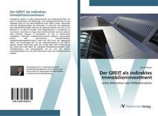 Buchcover von Der GREIT als indirektes Immobilieninvestment