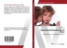 Buchcover von Geschwisterbeziehung im Alter