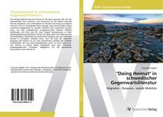 """Bookcover of """"Doing Heimat"""" in schwedischer Gegenwartsliteratur"""