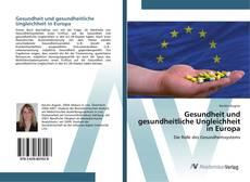 Buchcover von Gesundheit und gesundheitliche Ungleichheit in Europa
