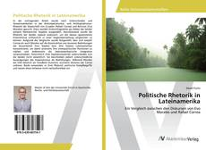 Bookcover of Politische Rhetorik in Lateinamerika