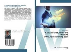 Bookcover of A usability study of the website www.homebriefing.com